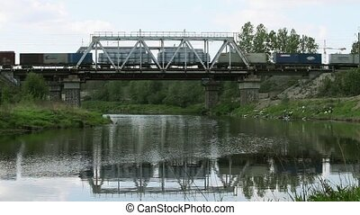 railway Bridge - Railway bridge and Carriages