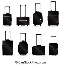 traveling bag vector illustration with shadow on white