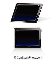 tablet illustration - tablet vector illustration art on...