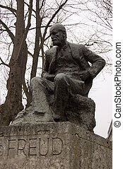 Statue of Sigmund Freud - Public statue of the psychoanalyst...
