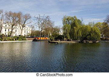 Little Venice, Paddington, London - View of the part of West...