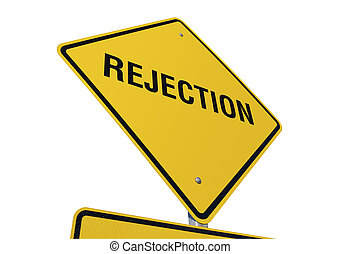 Rejection road sign isolated on a white background Contains...