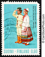 Postage stamp Finland 1972 Married Couple from Koivisto