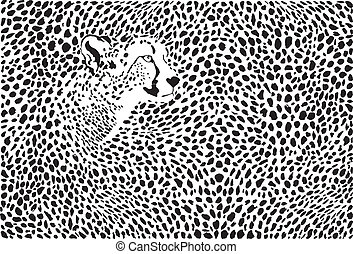 Pattern cheetahs background - illustration background...
