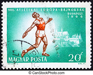 HUNGARY - CIRCA 1966: a stamp printed in the Hungary shows...