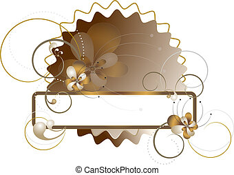 Elegant frame decorated with flower