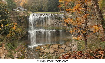 Websters Falls - Two tiered waterfall Websters Falls in...