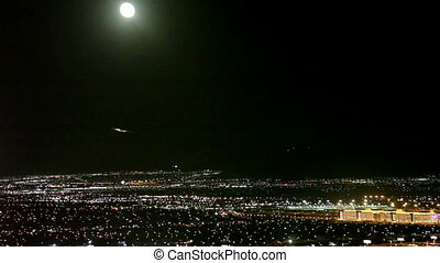 Aerial view of Las Vegas - Aerial view of las vegas at night...