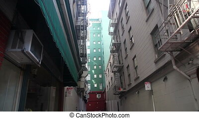 back street - A typical back street in America, with outdoor...