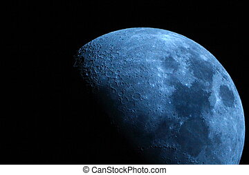 Once in a Blue Moon - Picture of our beautiful moon taken...