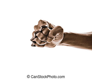 Knuckle weapon isolated on white background