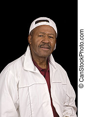 Elderly African American man