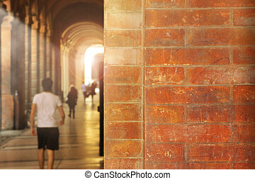 Arched walkway