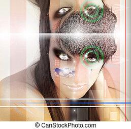 Surreal woman portrait