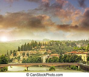 Verona - Romantic feeling landscape of Verona Italy
