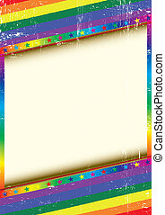 Gay frame with a texture - A grunge textured background with...