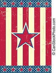 US background red star