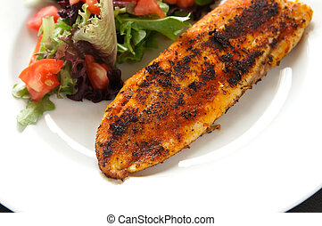 fillet of tilapia blacken