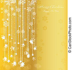 Christmas background - background of falling stars on...