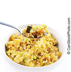 Oriental fried rice - A bowl of delicious oriental fried...