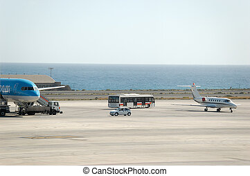 Airport Ramp at GC - The Grand Canary airport ramp with the...
