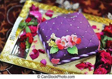 Wedding cake - Colorful Indian style wedding cake