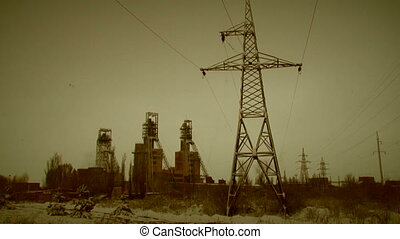 Sovietic industry - A view of sovietic industrial...