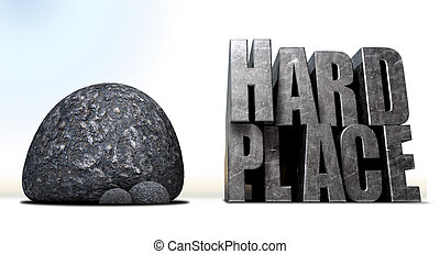 Caught Between A Rock And A Hard Place - A literal...