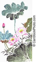 abstract lotus-Traditional Chinese Painting - beautiful...