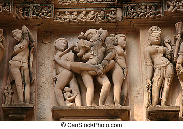 Erotic temples in Khajura - Erotic statues on ancient...