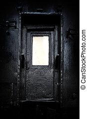 The mystical door - Black, an old mysterious door.