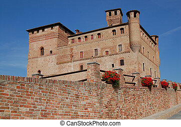 Grinzane Cavour Castle in Langhe, Piedmont - Italy