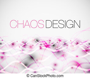 Abstract chaos lines background