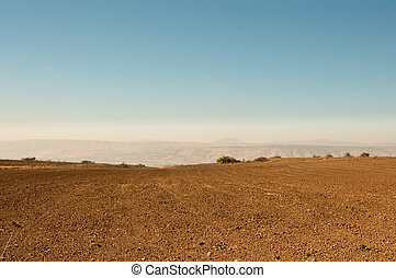 Galilee. North Israel . - Agriculture fields . Landscape Of...