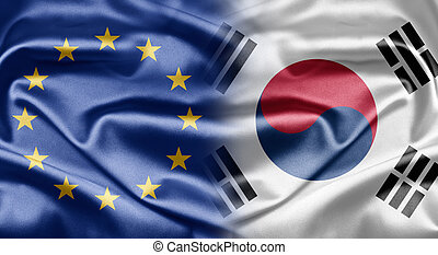 EU and South Korea - Excellent images of flags for your...