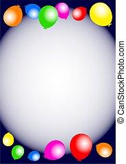 Partido,  balloon, aniversário, borda