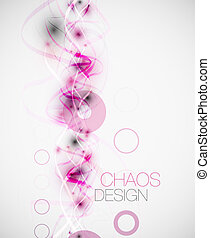 Abstract chaos lines background - Vector illustration with...