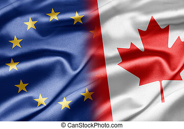 EU and Canada - Excellent images of flags for your business