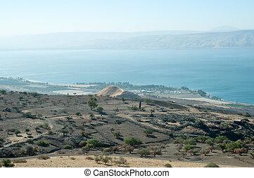 Galilee. North Israel . - Sea of Galilee .Landscape Of North...