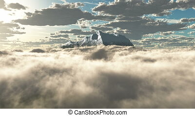 HD - Mountains in the clouds