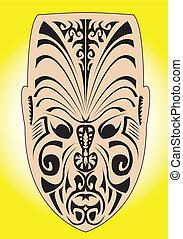 maorí, máscara