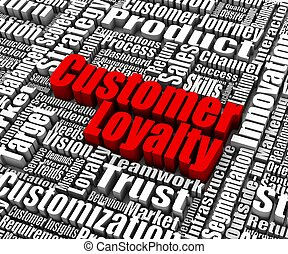 Customer Loyalty - Group of customer loyalty related words...
