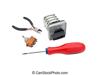 tools - electrical fixture with screwdriver