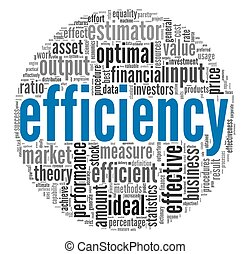 Efficiency concept in tag cloud - Efficiency concept in word...