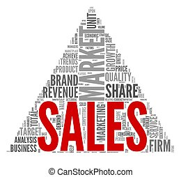 Sales concept in tag cloud - Sales and market concept in...
