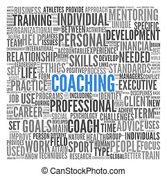 Coaching concept in sphere tag cloud - Coaching concept...
