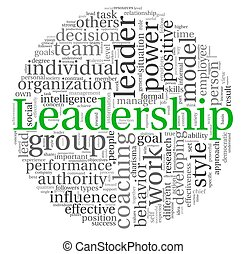 Leadership in word tag cloud on white - Leadership concept...