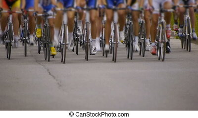 HD - Cycling race. front view