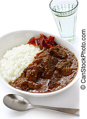 beef curry on rice - japanese food