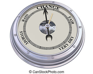 Barometer indicating change - Isolated illustration of a...